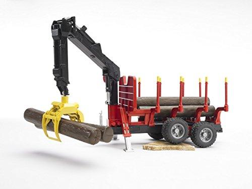 Imagen principal de Bruder 2252 - Remolque con grúa (4 troncos)