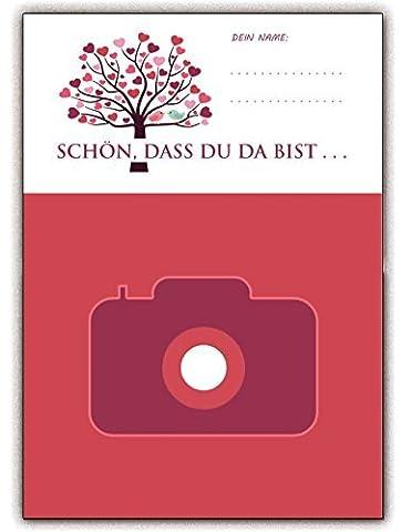 Hochzeitsspiele Foto-Spiel für die Hochzeit - Hochzeitsspiel Schön, dass Du da bist (25 Stück)