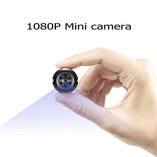 Cámara Espía Oculta 1080P HD Portátil Mini Cámara Espía con Visión Nocturna, Grabación y Detección de Movimiento en Hogar, Automóvil, Drone, Oficinas. Apto para Uso en Exteriores Interior