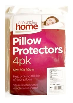 White Pillow Protectors 4pk