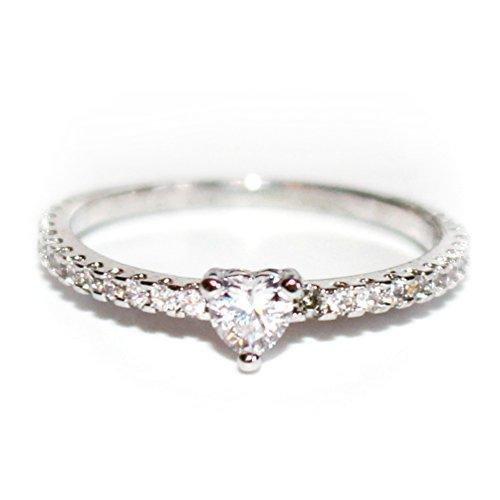 Mio-ring (Gieschen Jewelers -MIA- Ring 14K Weiß-Vergoldet, mit kubischem Zirkonia (Größe P 1/2))