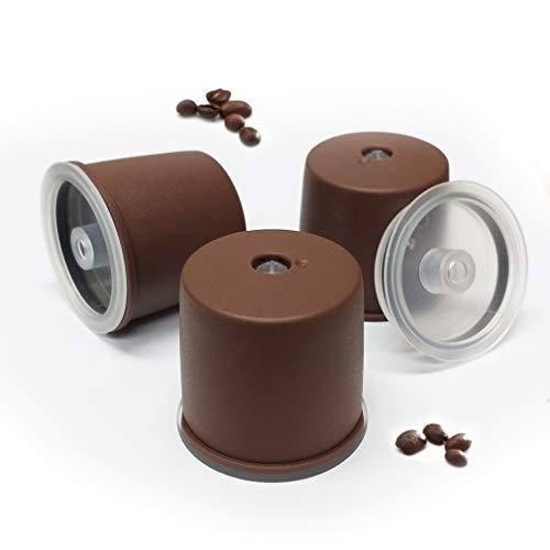 Kuner illy Kompatible nachfüllbare Kapseln, wiederverwendbar, kompatibel mit illy Kaffeemaschine, Braun 3_counts