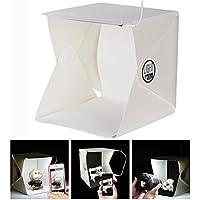 Cisixin Caja de Luz Fotografia portátil, Kit Estudio Fotografia con dos fondos negro/ blanco