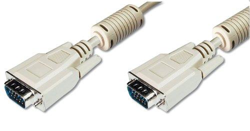 ASSMANN VGA Monitor Anschlusskabel, HD15 Stecker zu HD15 Stecker, 10 Meter, Beige