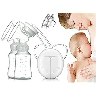 Dual Electric Breast Pump with Charge Plug and Automatic Massage for Postpartum Prolactin