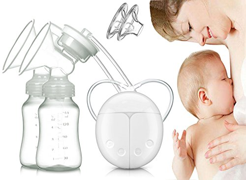 Dual Electric Breast Pump with Charge Plug and Automatic Massage for Postpartum Prolactin 41Lc3WaRHEL