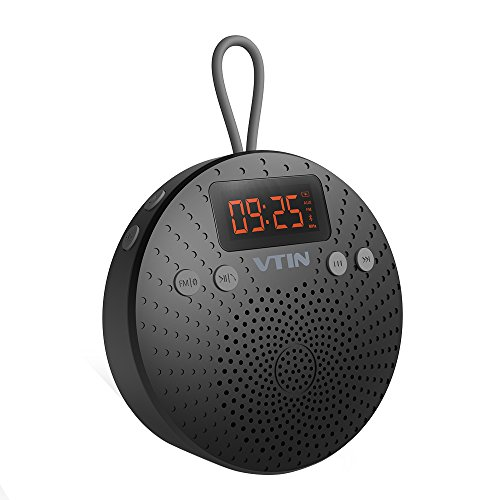 new-release-vtin-water-resistant-bluetooth-40-shower-speaker-with-enhanced-bass-fm-radio-lcd-display