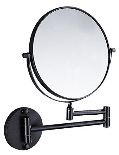 THEE Kosmetikspiegel Schminkspiegel zweiseitig Wandspiegel, Befestigen ohne bohren, verstellbar,...