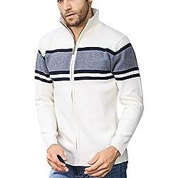 Kinlene Manteau Cardigan en Tricot pour Homme,Nouveau Style de La Mode des Hommes TricotéS Cardigan Pull Blouse Manteau Rayures Chics