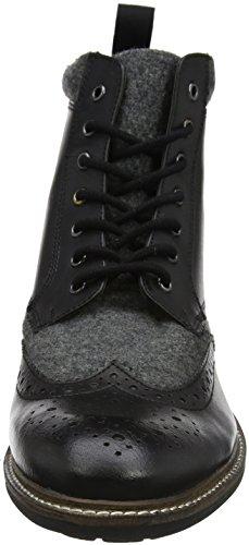 Joe Browns Herren Mix It Up Leather Boots Stiefel Schwarz (Schwarz/Grau)