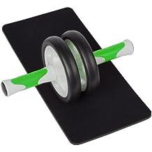 Ultrasport AB Roller Bauchtrainer, Bauchmuskeltrainer für Damen für Fitness, Muskelaufbau und Abnehmen an Bauch Beine Po – Bauchroller inklusive Knieauflage und Trainingsanleitung