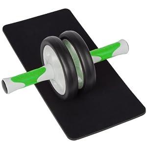 Ultrasport AB Roller - Rodillo para entrenamiento de abdominales, color verde