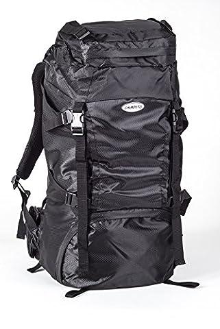 Sac à dos trekking compact avec une capacité de 60 litres, noir