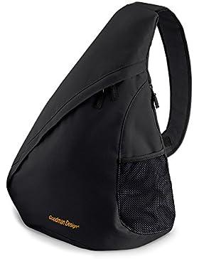 Trendiger Umhängerucksack Crossover Rucksack Schulterrucksack Slingbag Body Bag Crossbag Skaterrucksack mit Goodman...