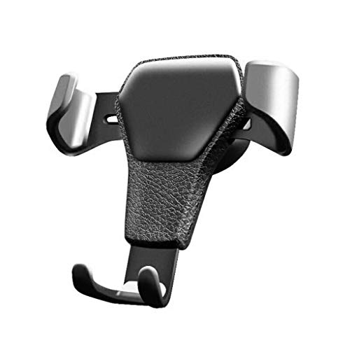 Qi Peng Handy-Standplatz - Allzweck Autotelefonhalter Schwerkraftsensor Faule Clip Kreative Auto Klimaanlage Outlet Telefon Clip (Farbe : Schwarz)