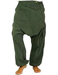 Guru-Shop Haremshose, Pluderhose, Pumphose, Aladinhose - Schwarz, Herren, Baumwolle, Männerhosen Alternative Bekleidung