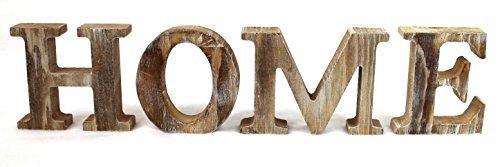 4 Holz Buchstaben HOME Höhe 8cm Tiefe 2cm 3 D Dekoration (Dekorationen Home)