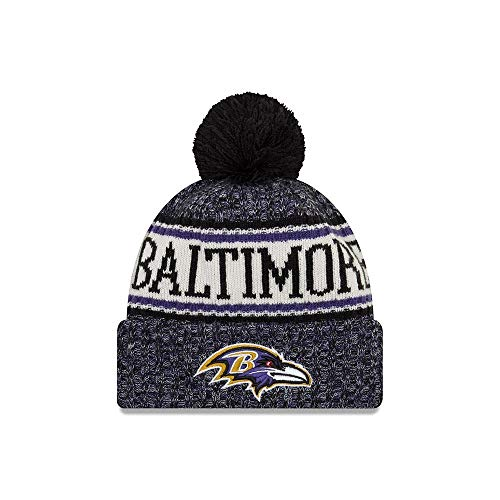 A NEW ERA Era Knitted Onfield Sport Beanie ~ Baltimore Ravens