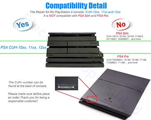ElecGear Replacement CPU Lüfter für PS4 CUH-1xxx - Delta Intern Reparatur  Ersatzkühler Ventilator Kühler Cooling Fan, Arctic MX-2 Thermo Paste, TR9