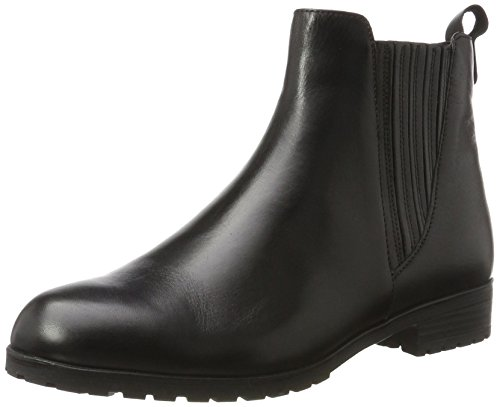 Caprice Schwarz Boots 25352 Damen black Chelsea Nappa rF10rxS