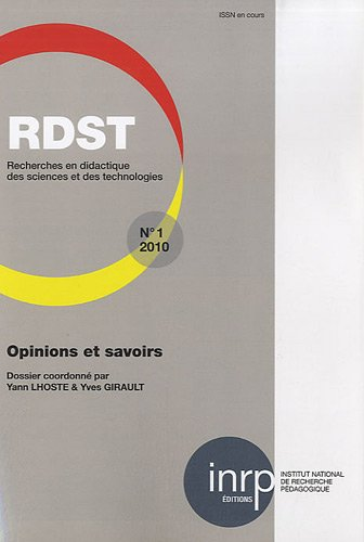 RDST, N° 1 : Opinions et savoirs