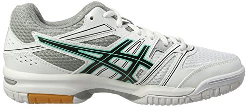 Asics Gel-Rocket 7, Chaussures de Volleyball Femme Multicolore (White/black/cockatoo)