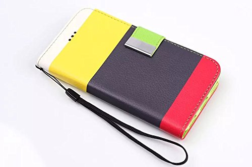 IPhone 6 6S Plus Case,klassische Bunte Streifen - Design Folio Pu Ledergeldbeutel Fall Decken Mit Stehen / Card Slot Für Iphone6 65 Plus ( Color : 1 , Size : Iphone6 6s Plus ) 1
