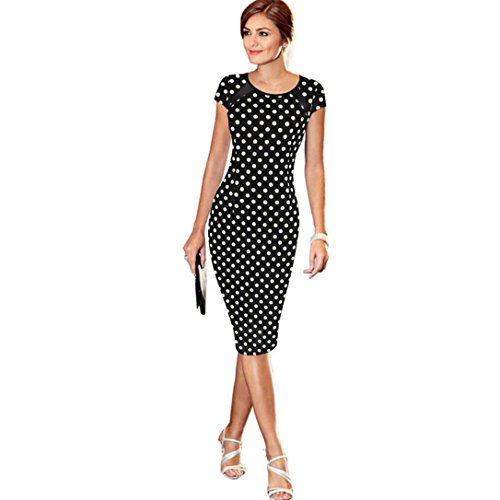 Minikleid SANFASHION Damen Verband Bodycon Kurzarm Party Cocktail Bleistift Sommerkleid