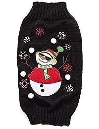 dba25028bb551 Yzibei Cane da Pullover Maglione di Maglia Traspirante da Pupazzo di Neve  di Natale Vestiti per