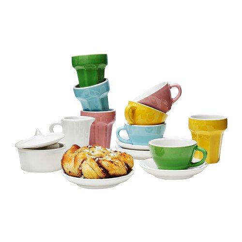 IKEA DUKTIG - 10 piezas de café / juego de té, multicolor