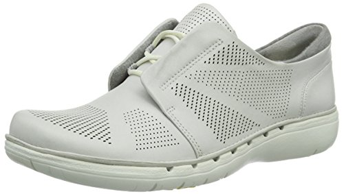 Clarks Un Voltra, Baskets  femme Blanc (White Leather)