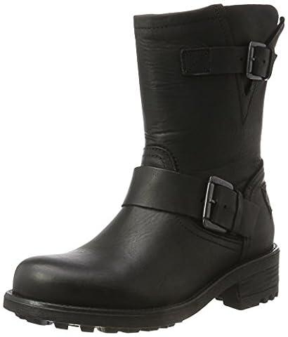 Bullboxer Damen 427502E6L Biker Boots, Schwarz (Black), 39 EU