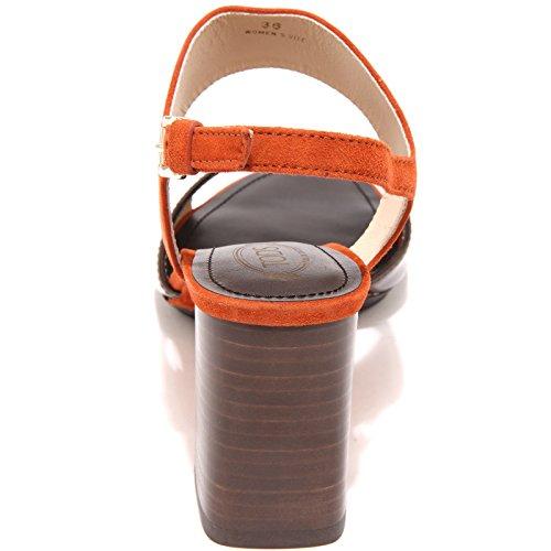 15794 sandalo TODS scarpe donna shoes women arancio testa di moro/arancione
