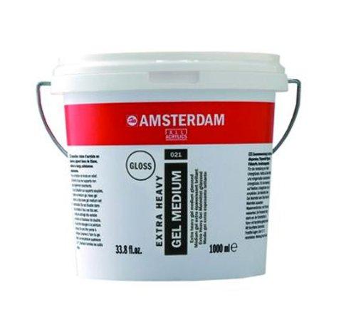 Strukturpaste extra Heavy Body Gel 021 glänzend 1000ml Eimer Amsterdam Talens Künstlerbedarf -