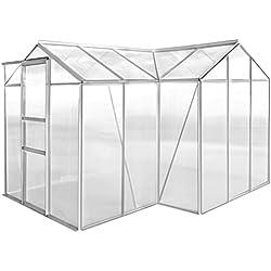 Xinglieu Gewächshaus aus aus Aluminium, 1 Abschnitt mit Modularplatte für Zimmerpflanzen, Gewächshaus aus aus Polycarbonat Gewächshaus