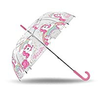 Kids Umbrella Transparent 50 cm Automatic Unicorn Classic Umbrella, 80 cm, Multicolour