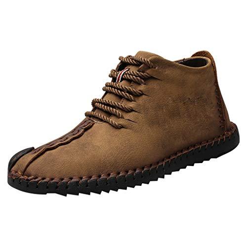 Aoogo Herren Freizeitschuhe High-Top-Schnürschuhe Outdoor Casual Wild Herren-Ultraleichtschuhe Business-Schuhe -