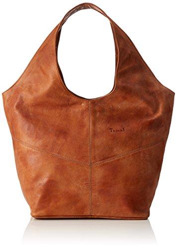 Damen Handtasche Sattel (Think Damen Bag Schultertasche, Braun (Sattel 51), 17x33x43 cm)