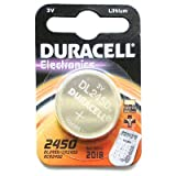 Duracell DL2450Lithium 3V non-rechargeable battery–non-rechargeable Batteries (Lithium, Button/Coin, 3V, 3mm, 2.2cm, 8g)