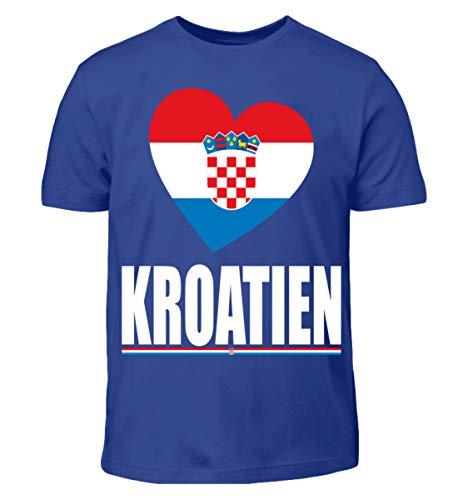 Hochwertiges Kinder T-Shirt - Kroatien Flagge T-Shirt Hrvatska Fan Kroatien Fussball Trikot Geschenk