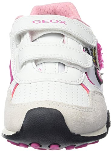 Geox Jr New Jocker B, Baskets Basses Fille Blanc (C1000)
