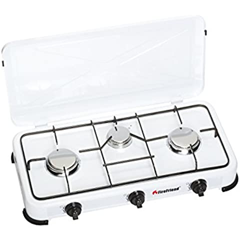 FireFriend KO-6383 - Cocina de gas con 3 quemadores, color blanco