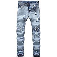 Geili Jeans Hose Herren Destroyed Used Look Wasserwäsche Lang Straight Jeanshose Männer Slim Fit Stretch Jeans... preisvergleich bei billige-tabletten.eu