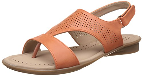 BATA Women's Perforated Concealed Orange Fashion Sandals - 5 UK/India (38 EU)(5615926)