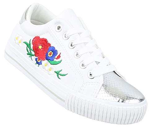 7b692fbff80702 Weiß 38 Freizeitschuhe 39 41 Sneaker Schuhe Schwarz 36 Sportschuhe  Turnschuhe 37 Damen Laufschuhe 40 ...