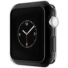 Apple Watch Funda Series 2 HOCO Pinhen Funda Protector de Pantalla de Metálico Ligero para Apple Watch Series 2 (42MM Case Black)