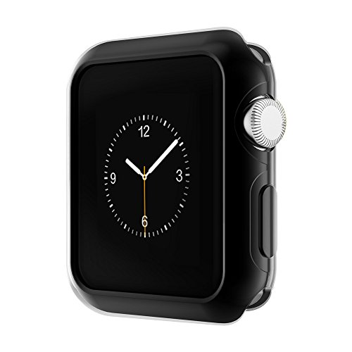 Pinhen Apple Watch Funda Series 2 HOCO Funda Protector de Pantalla de Metálico Ligero para Apple Watch Series 2 (42MM Case Black)