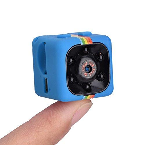 Qiyun Action-Kamera, Action Cam, Mini HD SQ11,Videorecorder HD 1080P Mini DV Digitaler Videorekorder VS SQ8 SQ9, blau