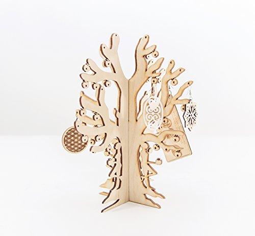 Holz Schmuck Baum - Schmuck Baum Stand - Laser Cut Schmuck Organizer - Ohrring Halter - Schmuck Display - Schmuck Lagerung (Lagerung Baum)
