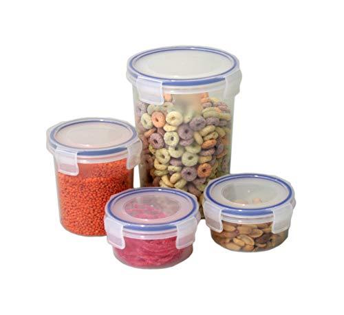 Wunschreich Gefrier-und Frischhaltedose, Snackbox, Stapelbox, Safe-Box 4er-Set rund (Sparpreis Angebot)